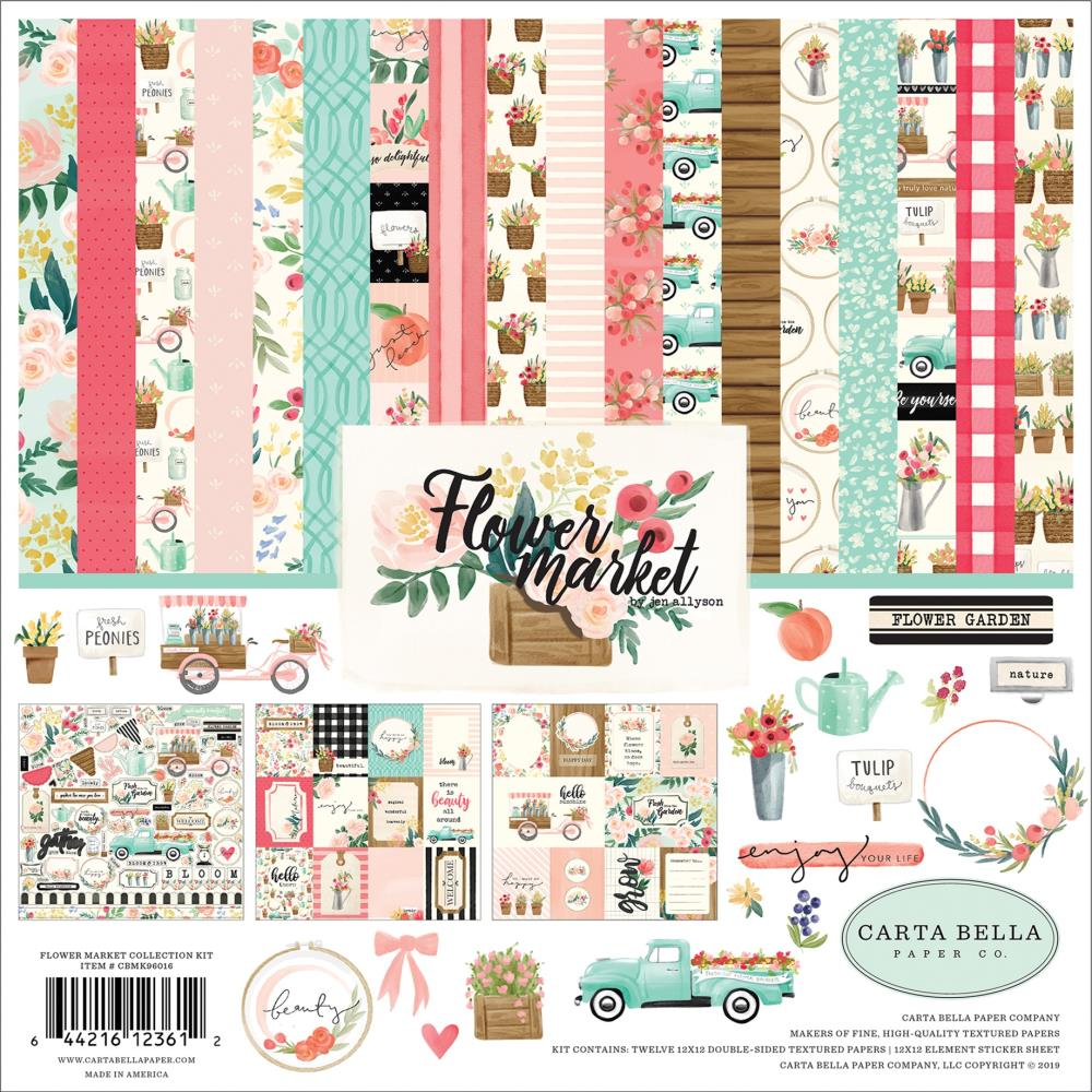 CARTA BELLA Flower Market - Pack 30 x30
